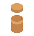 brown cylinder box vector image vector image