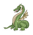 cartoon funny dragon with horns and wings vector image vector image