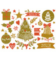 Christmas sketchy set vector image vector image