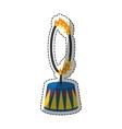 Circus fire hoop vector image