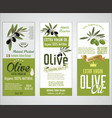 collection of olive oil labels 02 vector image vector image