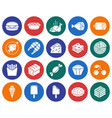 collection of round icons food vector image