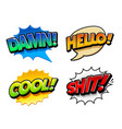 comic speech bubbles vector image vector image