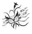 Decorative composition of curls and ornamented vector image