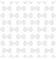 Dumbbell pattern seamless vector image