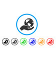 earth care rounded icon vector image