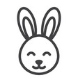 easter rabbit line icon easter and holiday vector image vector image