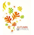 fall abstract background vector image vector image