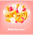 foil balloons numbers 2021 for new year vector image