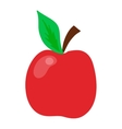 Fresh red apple isolated vector image