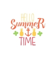 Great Summer Time Colorful Ad vector image