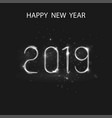 happy new year 2019 background for vector image vector image