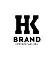 hk letter vector image