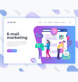 landing page template e-mail marketing concept vector image vector image