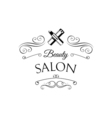Lipstick Beauty Salon Design Elements in Vintage vector image vector image