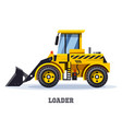 loader truck or bulldozer tractor icon vector image