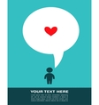 Love card with man with speech bubble vector image