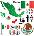 Mexico map with regions vector | Price: 1 Credit (USD $1)