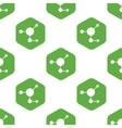 Molecule pattern vector image vector image