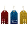 new years tags vector image vector image