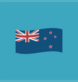 new zealand flag icon in flat design vector image