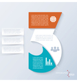 Number 3 template for presentation vector image