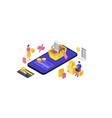 online mobile shopping app isometric vector image