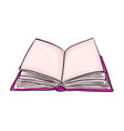 open book cartoon symbol icon design beautiful vector image vector image