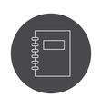 Outline notebook icon vector image vector image
