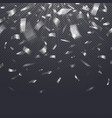 paper confetti falling serpentine on transparent vector image