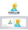 pixel lab color logo design vector image vector image