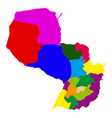 political map of paraguay vector image vector image
