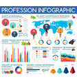professions infographic statistic charts vector image vector image