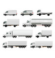 realistic cargo vehicles set vector image
