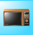 realistic microwave isolated on blue background vector image