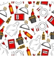 Restaurant service seamless pattern background vector image vector image
