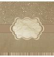 Retro template beidge stripes polka dot EPS 8 vector image vector image