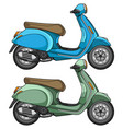 scooter motorcycle vector image vector image