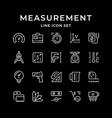 set line icons measurement vector image