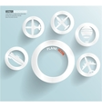 Set of banners with circles fly and sky vector image vector image