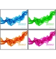 Set of wavy abstract background vector image vector image