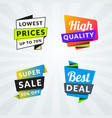 set sale banners and labels design elements vector image