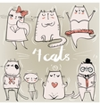 set with cute cats vector image vector image