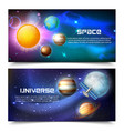 space universe horizontal banners vector image