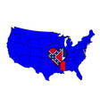 state of mississippi vector image vector image