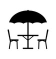 table parasol and chairs icon vector image