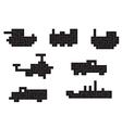transportation pixel vector image