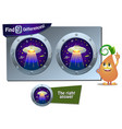 ufo game 9 differences vector image vector image
