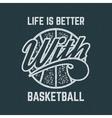 Vintage Basketball sports tee design in retro vector image vector image