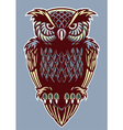 vintage color style of owl bird vector image